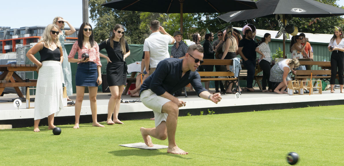 Barefoot Bowling at Brunswick Bowls Club